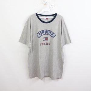 90s Tommy Hilfiger Mens Large Flag Logo T Shirt